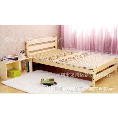 厂家供应员工宿舍床 实木学生床公寓床宿舍单层实木床