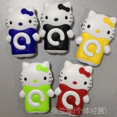 厂家批发 新款上市立体KT猫插卡MP3 随身携带迷你MP3 听歌必备