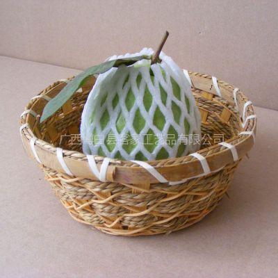 厂家供应纯手工编织工艺品 编织篮子 圆形篮子