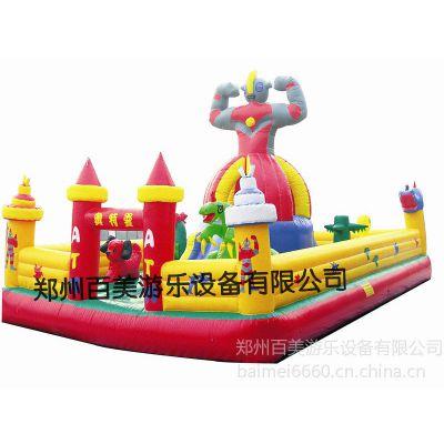 供应上海市户外迷你小型气垫床 仿真奥特曼儿童蹦蹦床 充气城堡价格