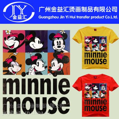 各种卡通动漫服装 迪士尼米奇老鼠图案烫画 现货供应