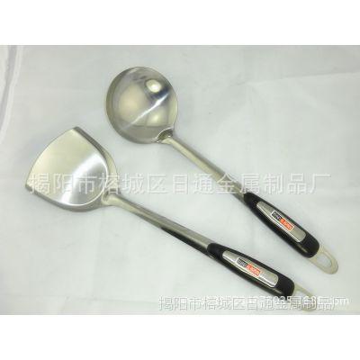 厂价直销 不锈钢 沙光柄汤勺锅铲 厨房用具