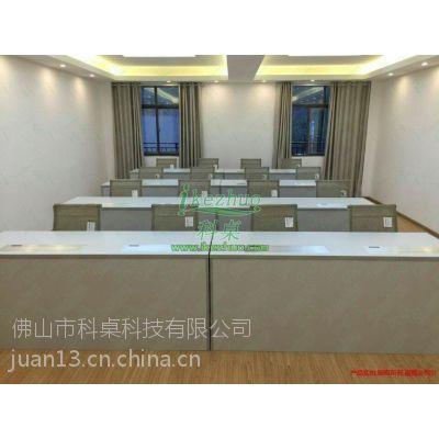 湖南部队升降电脑桌 贵州部队培训升降桌 隐藏电脑升降桌