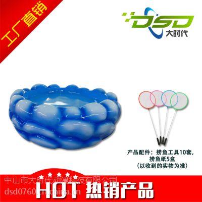 厂家定制玻璃钢海浪鱼池 水循环系统 儿童淘气堡设备 游乐设备
