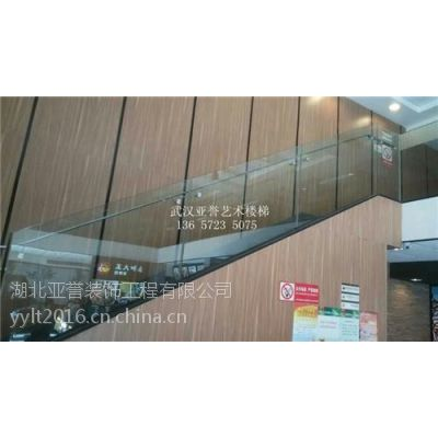 武汉玻璃楼梯、酒楼玻璃楼梯、云梦玻璃楼梯