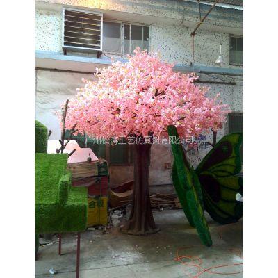 仿真樱花树 广州哪里有仿真樱花树卖 广州假植物生产厂家