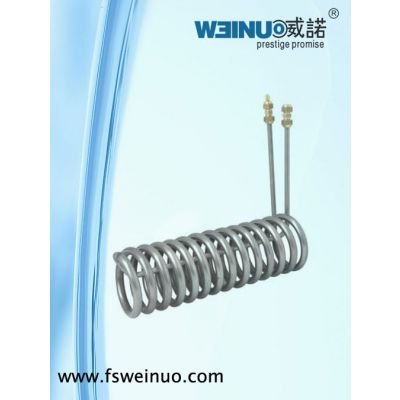 供应厂家销售5匹冷水机专用纯钛蒸发器(浸管型)