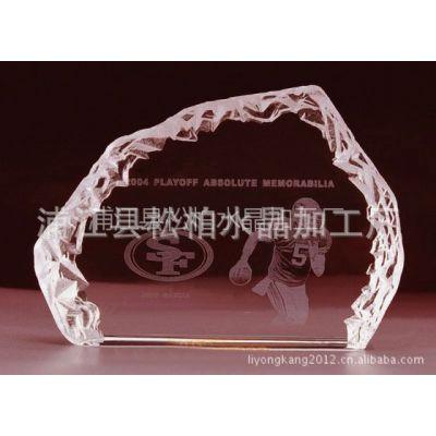 供应出售高品质水晶冰山内雕 冰山奖牌水晶内雕