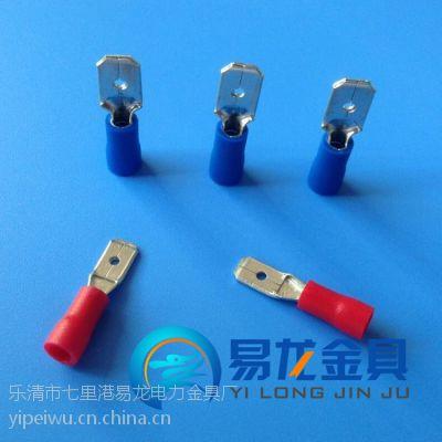 厂家供应公预绝缘端头 MDD1.25-250插拔式接插件冷压线耳 公型绝缘端子