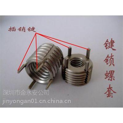 专业供应深圳JYA牌重型键锁螺套 不锈钢303材质