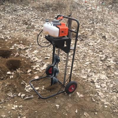 安徽省拖拉机牵引挖坑机 富兴车载大功率挖坑机 植树挖坑机厂家图片