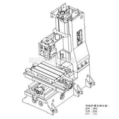 供应台正立式加工中心光机TOM-545工作台面尺寸380*620