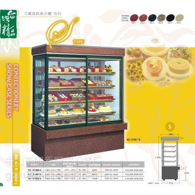 供应珠海国铨直立式蛋糕冷冻冷藏展示柜-黑大理石