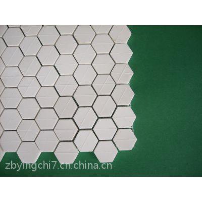 淄博赢驰供应粘贴耐磨陶瓷片,硬度高 耐磨性好 施工方便 粘贴牢固