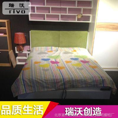 专业供应 双人家居板式床 简约现代气压卧室板式床