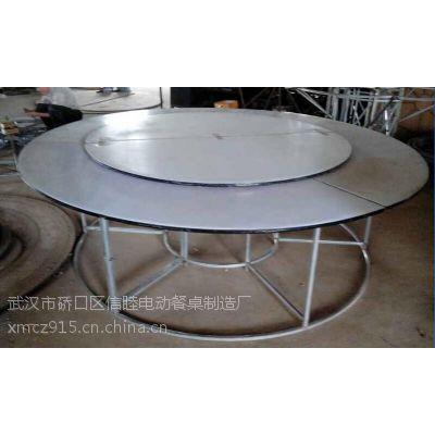 供应信睦厂家简易PVC面板钢架电动餐桌