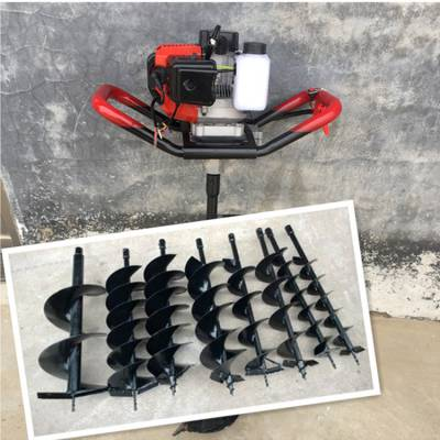 小型挖坑机 手提式打洞机 便携式挖坑机圣鲁