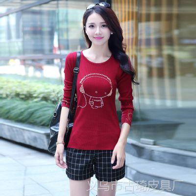 2014秋冬季新款韩版女款针织打底衫低领时尚修身套头毛衣女装