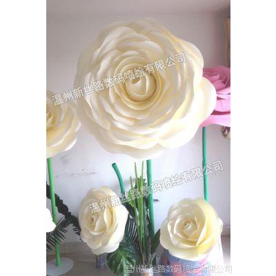 高档紫色玫瑰仿真花  橱窗陈列舞台道具 婚庆布置玫瑰花 家居摆放