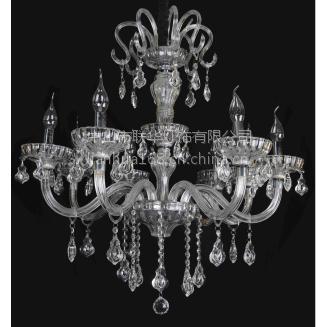 CVMA厂家直销 6006C-8A l欧式蜡烛白炽灯水晶吊灯酒店复式楼梯客厅水晶吊灯