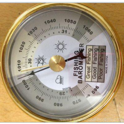 65mm供应钓鱼气压计晴雨表空盒金属气压计表 大气气压计
