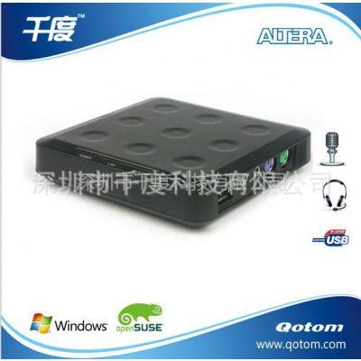 供应Qotom-N23 电脑共享器 电脑终端机 云终端 麦克风 USB接口
