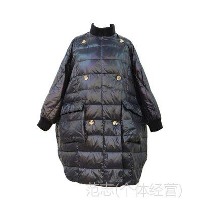 冬季新品中长款女羽绒服 保暖高档时尚女式精品羽绒服批发