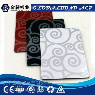 厂家直销2/3/4mm珠光祥云铝塑板 外墙花色铝塑板 批发定制