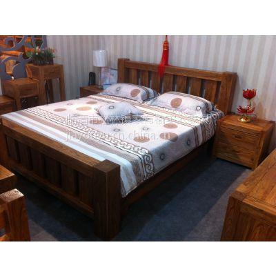山东韩式家具 老榆木床