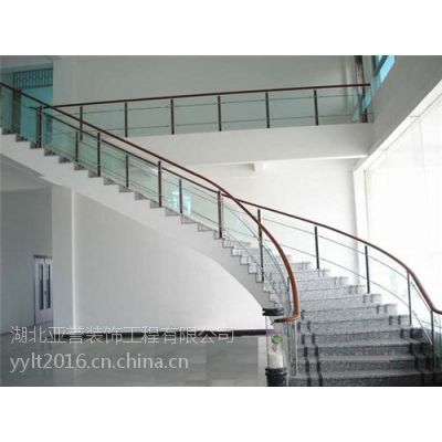 江夏玻璃楼梯,不锈钢玻璃楼梯,火锅店玻璃楼梯