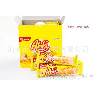 批发印尼那巴提纳宝帝Richeese丽芝士雅嘉奶酪玉米棒160g*12盒/箱