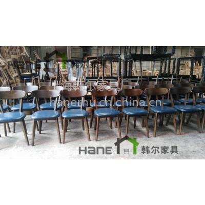 咖啡厅实木椅子 来图定制北欧椅子 上海韩尔家具厂