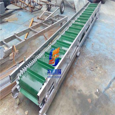 可移动式粮食圆管输送机,太仓加挡板式皮带机,600宽移动式皮带输送机报价