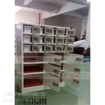 18格门酒店用不锈钢保险柜生产厂家,酒店前台保险柜工厂,十八门大堂前厅保管箱市场价格