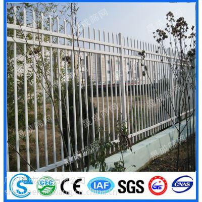 供应肇庆锌钢栅栏/景区围墙护栏/草坪隔离栅/案例/供应