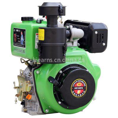 12马力 电启动柴油机 单缸风冷188FA 可调速 国产柴油机