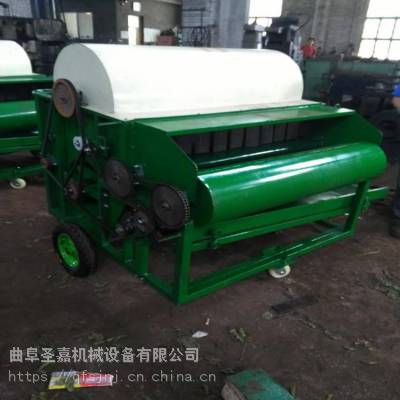 圣嘉全自动毛豆采摘机 高效率豆荚脱荚机规格