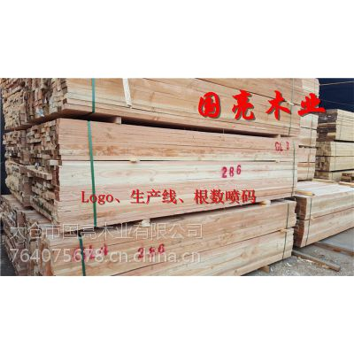 建筑木方铁杉花旗松方木木材加工厂直销跳板木板方