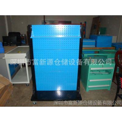 供应方孔挂板架价格,双面挂板架尺寸,移动式挂板架生产厂家