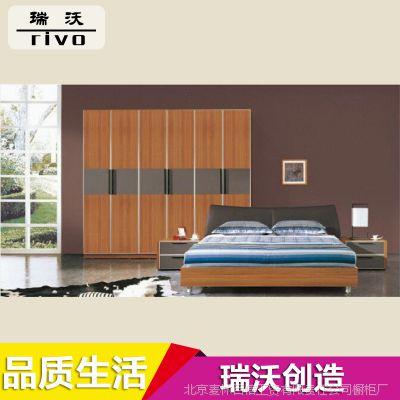厂家供应 1.8米简约现代宾馆板式床 成人套房板式床批发 价格优惠