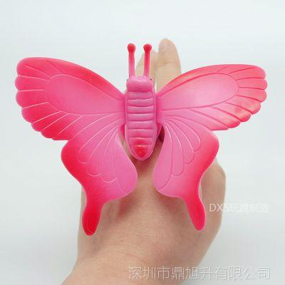 蝴蝶戒指 玩具戒指系列 塑胶戒指 玩具戒指 厂家直销