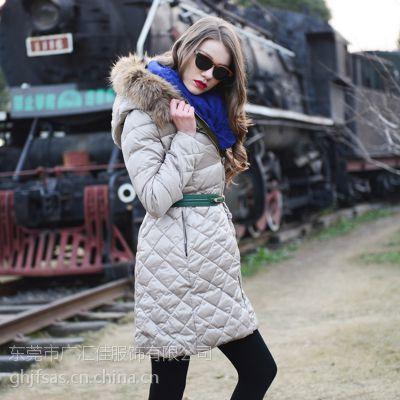欧美风Believe Ml羽绒服 时尚中长女式羽绒服品牌折扣女装走份批发