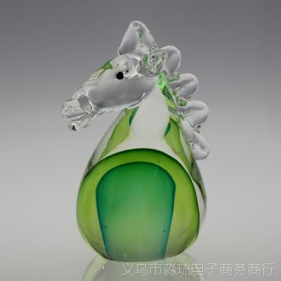 水晶12生肖摆件 琉璃十二生肖 彩色生肖工艺品摆件 纯手工摆件