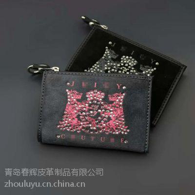 厂家加工生产直销批发 工厂外贸原单女式真皮零钱包