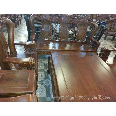 厂家直销高档花梨木沙发套装,座椅、茶几件套