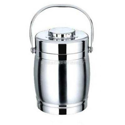 供应供应批发不锈钢胀型鼓型保温提锅保温桶提桶