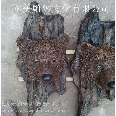 供应四川达州精美雕塑挂件 仿真动物工艺品壁挂