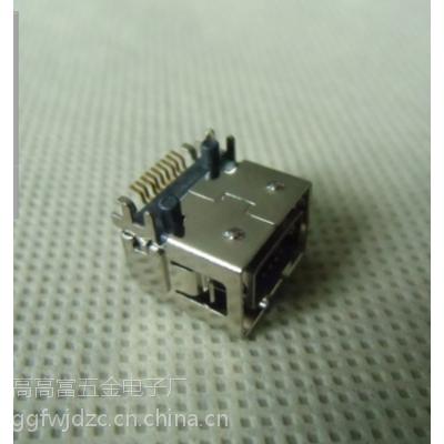 L10.7mmIEEE 1394-9pSMT BF【定位柱错位+(2SMT+4DIP)六脚】母座