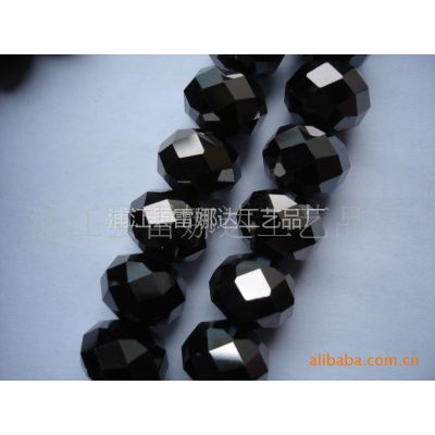 供应镀黑胆扁珠、12mm扁珠、不同镀彩工艺扁珠、各种规格水晶玻璃珠