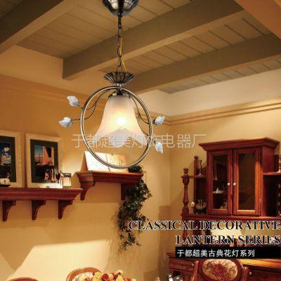 供应五星级酒店会所阳台吊灯 工程灯饰 欧式风格 玻璃仿古 于都超美